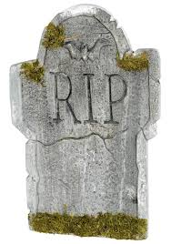 Tombstone engraved with RIP